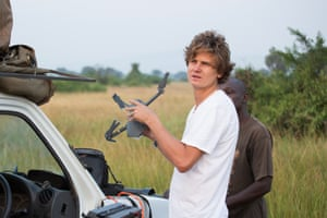 Alexander Braczkowski, a Griffith University researcher working on ways to monitor African lion numbers