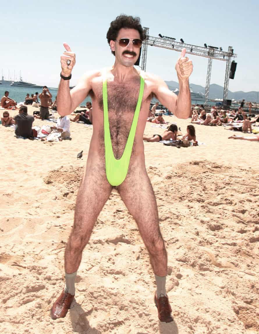 Sacha Baron Cohen in his 'mankini' in the film Borat.