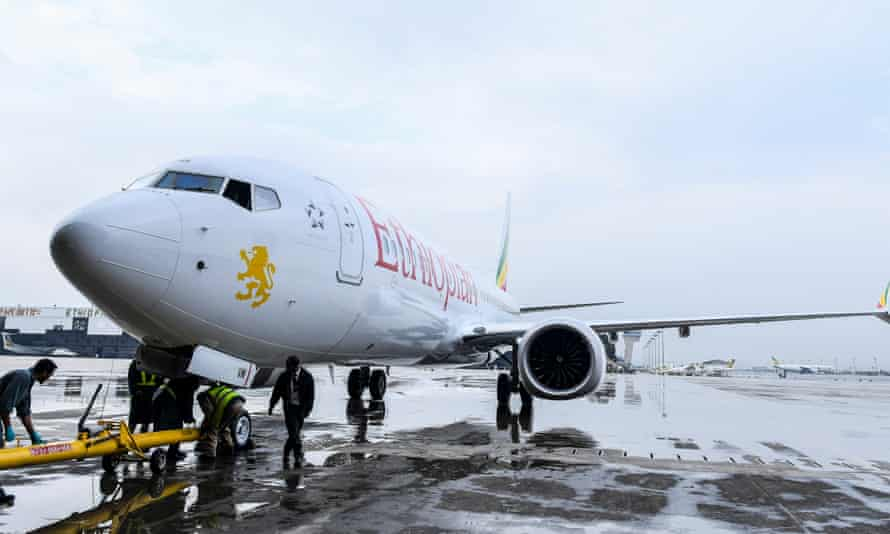 An Ethiopian Airlines Boeing 737 MAX 8