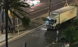 A truck has driven into crowds in Nice.