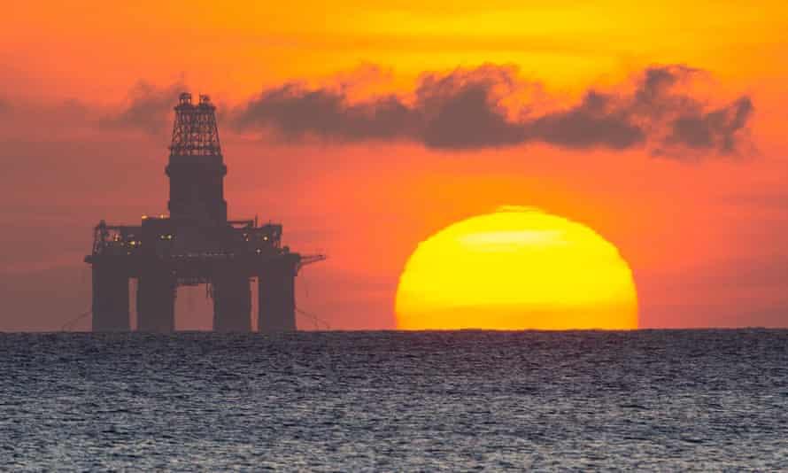 Oil platform moored of Kirkcaldy
