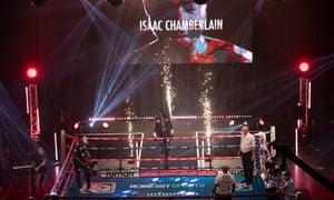 Chamberlain walks to the ring