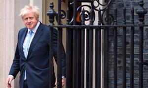 Boris Johnson outside No 10.