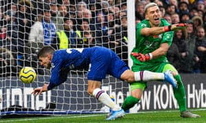 Christian Pulisic heads home Chelsea's second goal against Crystal Palace to seal a sixth successive Premier League win for Frank Lampard's side.