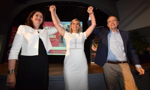 Annastacia Palaszczuk, Susan Lamb and Bill Shorten launch the Labor campaign for the seat of Longman at the Caboolture RSL on Sunday.