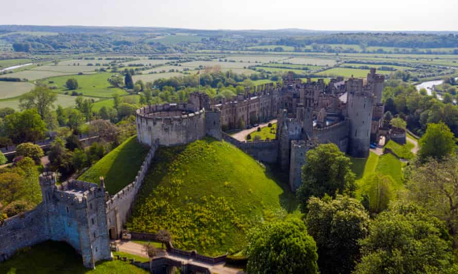 Arundel castle in West Sussex from where thieves have stolen historical items worth £1m.