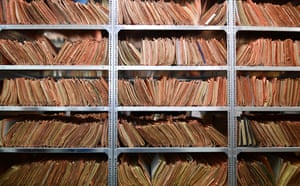The records of the Stasi, former East German secret police, are stored at the Stasi Museum, in Berlin
