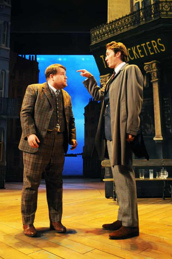 James Corden and Oliver Chris in One Man, Two Guvnors at the National in 2011.