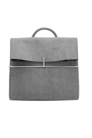 Grey wool felted backpack