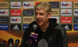 Arsene Wenger speaks to the press at Sheremetyevo Airport in Moscow. 'We will play with our best possible team and have a positive attitude.'