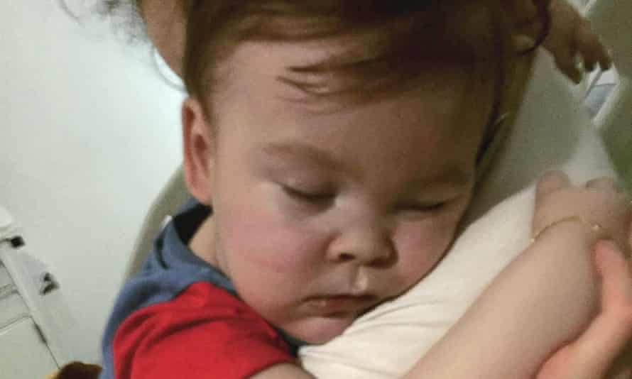 Alfie Evans with his mother Kate James at Alder Hey hospital in Liverpool