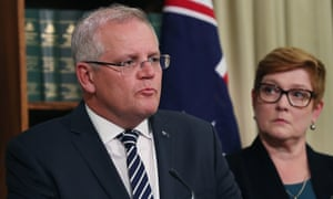 Prime minister Scott Morrison and foreign affairs Minister Marise Payne.