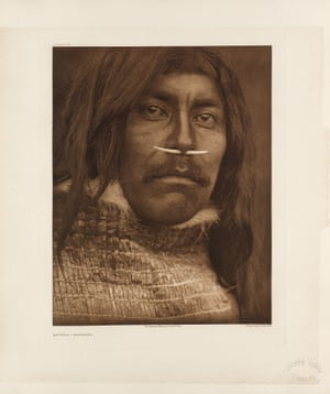 """Curtis explained his motives in the introduction to the first volume in 1907: """"The information that is to be gathered... respecting the mode of life of one of the great races of mankind, must be collected at once or the opportunity will be lost.""""Qa'Ĥíla – Koprino. The Koprinos are part of the Kwakiutl group."""