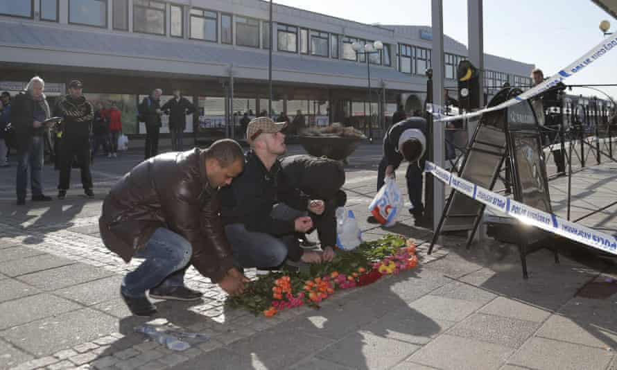 Floral tributes have been laid at the scene.