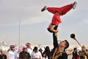 Rumah, Saudi Arabia Kyrgyz dancers perform