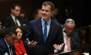 The NSW attorney general, Mark Speakman, during question time in the legislative assembly at NSW Parliament House