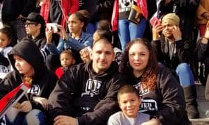 David Monroe and his family on the steps of San Francisco City Hall.