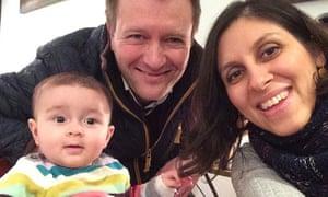 Nazanin Zaghari-Ratcliffe with husband Richard Ratcliffe and their daughter Gabriella.