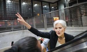 Green party presidential candidate Jill Stein in Philadelphia.