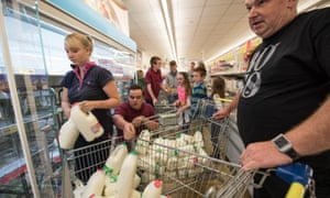 Shropshire dairy farmers buy up all the milk at ASDA in Market Drayton
