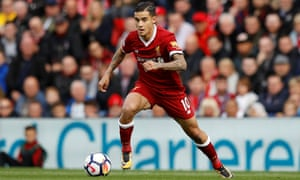 Philippe Coutinho made his first Premier League start for Liverpool in the 1-1 draw with Burnley on Saturday.