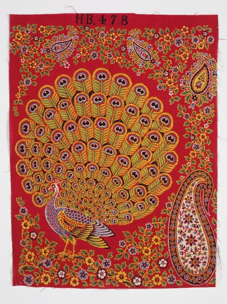 Sample of printed cotton, made by United Turkey Red Co. 1860-1880.