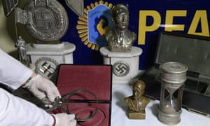 Some of the 75 pieces of Nazi art seized in Argentina this week.