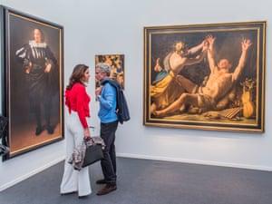 Connoisseurship … works by Artemisia Gentileschi, left, and Flemish painter Jan Janssens at Frieze Masters.