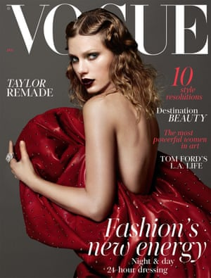Taylor Swift on the cover of British Vogue, January 2018