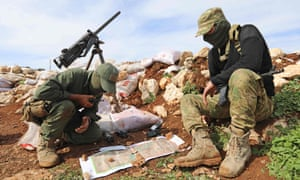 Turkish-backed Syrian rebel fighters