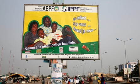 A family planning advertisement in, Cotonu, Benin.