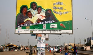 A family planning billboard in Cotonu, Benin