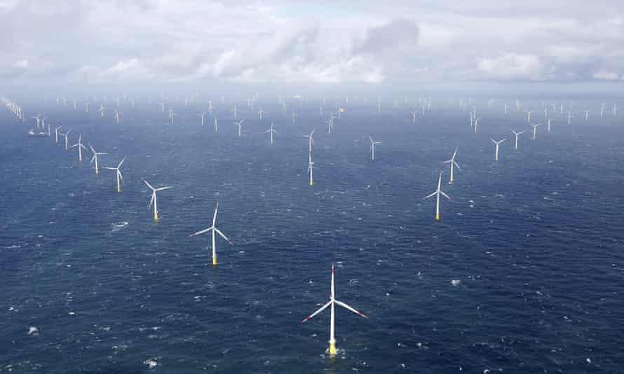 Germany's Amrumbank West offshore wind farm.