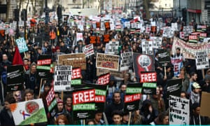 Students take part in a protest march against fees and cuts in the education system in London last November. Are you taking part in Wednesday's demonstration?