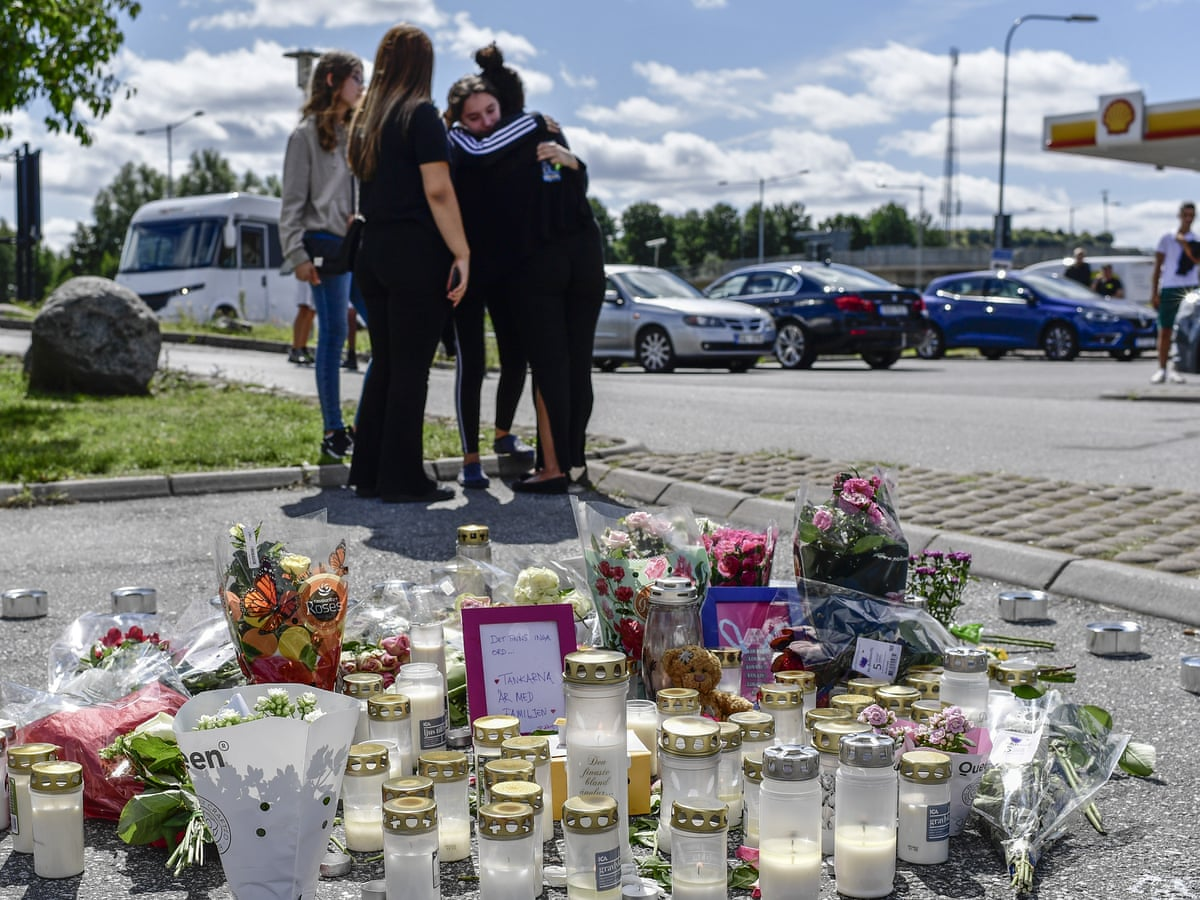 Outcry In Sweden After 12 Year Old Girl Killed By Stray Bullet World News The Guardian