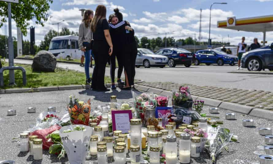 Outcry in Sweden after 12-year-old-girl killed by stray bullet   Sweden    The Guardian