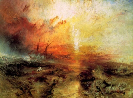 Crime against humanity … Slave Ship (Slavers Throwing Overboard the Dead and Dying, Typhoon Coming On).