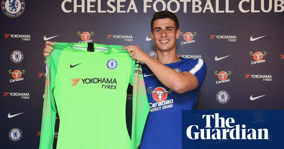 ed0ee91f15d Chelsea sign £71.6m Kepa Arrizabalaga with Courtois joining Real Madrid