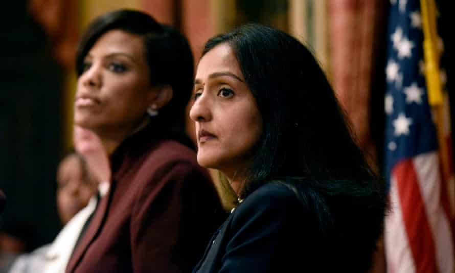 Vanita Gupta, right, with Stephanie Rawlings-Blake,   Baltimore's mayor.
