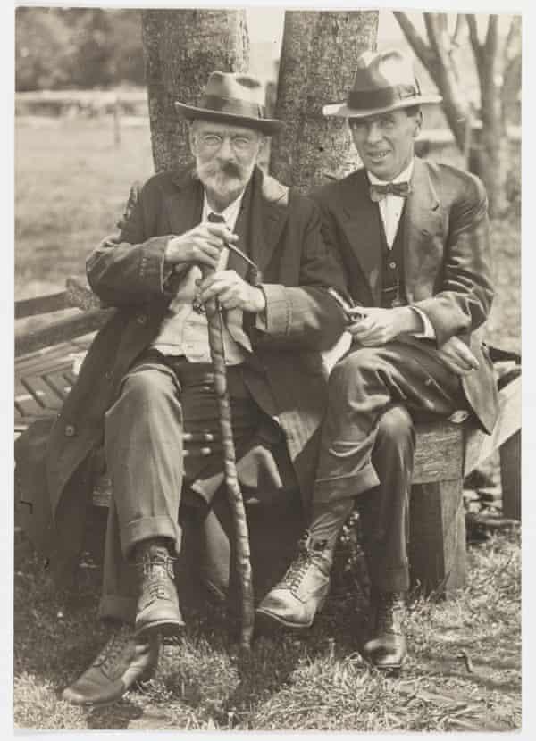 Alec Chisholm with Prof Sydney Skertchly in Queensland around 1920