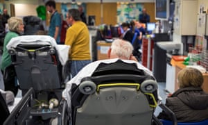 People waiting in an A&E department in Nottingham