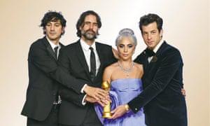 Anthony Rossomando,  Andrew Wyatt, Lady Gaga and Mark Ronson.