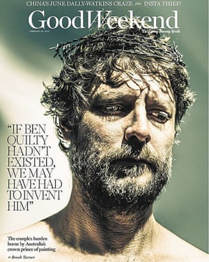 The cover of Good Weekend which featured Ben Quilty.