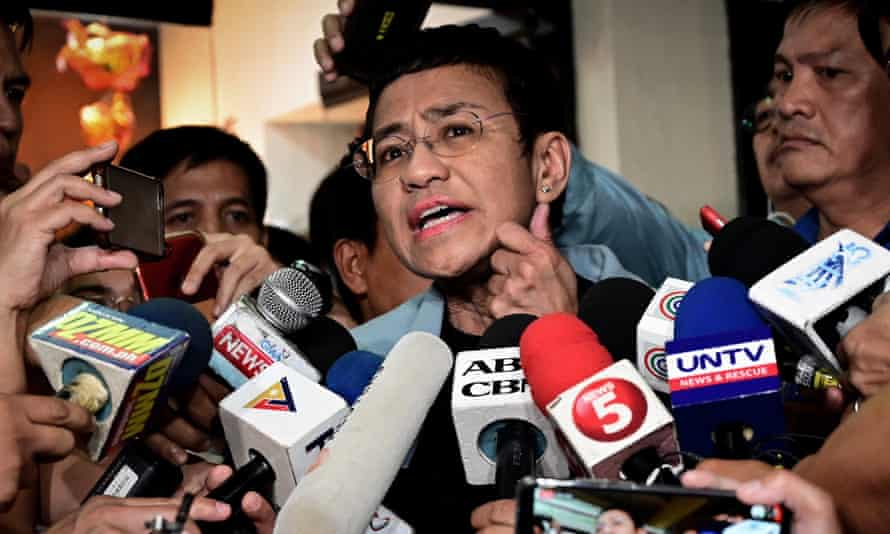 Philippine journalist Maria Ressa, who is cited in the report as a target for online abuse.