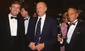 Donald Trump, Mayor Ed Koch and Roy Cohn attend a Trump Tower opening in October 1983.