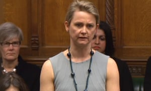 The Labour MP Yvette Cooper