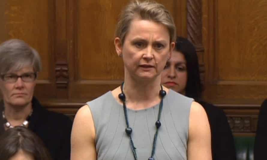 The Labour MP Yvette Cooper