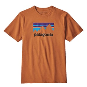 Orange T-shirt with Patagonia logo