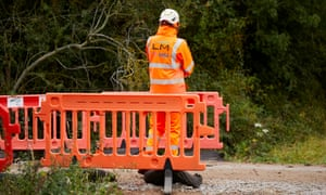 Increasingly visible 'mitigation works' in South Cubbington.