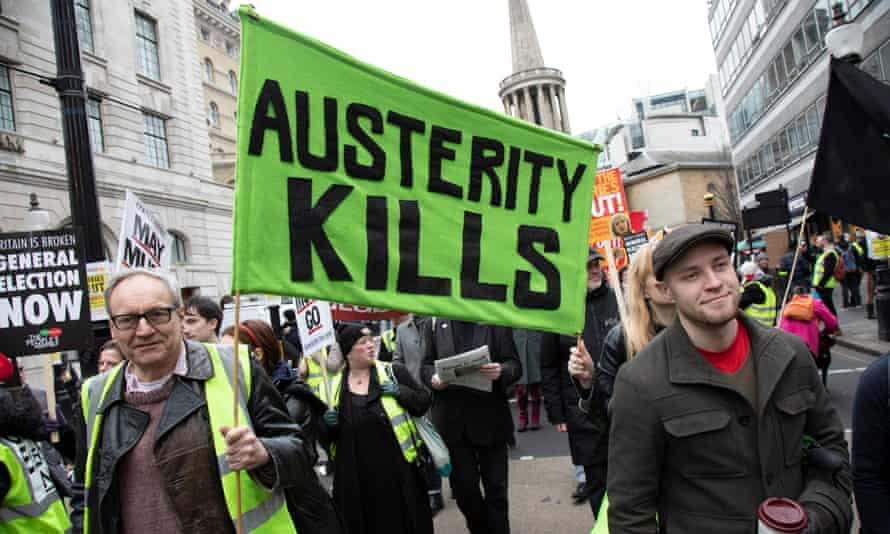 Britain Is Broken General Election Now Demonstration Against Austerity In London<br>Britain is Broken - General Election Now demonstration against Tory cuts and austerity on 12th January 2019 in London, United Kingdom. Irrespective of which way people voted in the EU referendum, this protest was calling for an end to austerity and homelessness, the nationalisation of rail and other utilities, and ultimately, for a general election to end the Tories power. (photo by Mike Kemp/In Pictures via Getty Images Images)